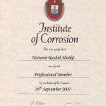 M ICorr Certificate